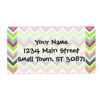 Aztec Andes Tribal Mountains Chevron Zig Zags Shipping Labels