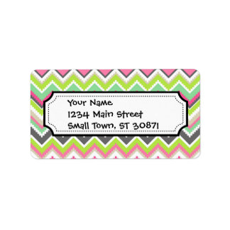 Aztec Andes Tribal Mountains Chevron Zig Zags Personalized Address Labels