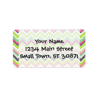 Aztec Andes Tribal Mountains Chevron Zig Zags Address Label