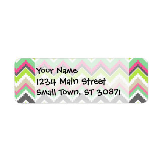 Aztec Andes Tribal Mountains Chevron Zig Zags Return Address Labels