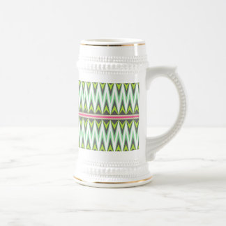 Aztec Andes Tribal Mountains Chevron Zig Zags Beer Stein