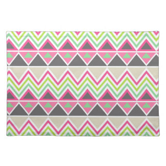 Aztec Andes Tribal Mountains Chevron Zig Zags Placemat