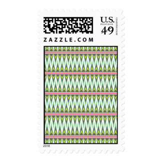 Aztec Andes Tribal Mountains Chevron Zig Zags Postage Stamps