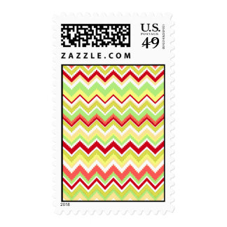 Aztec Andes Tribal Mountains Chevron Zig Zags Stamp
