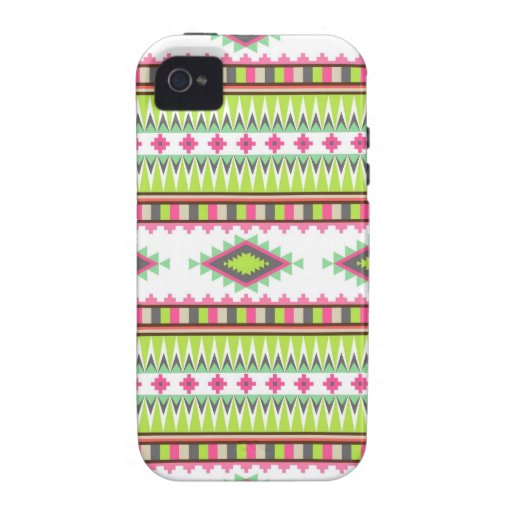Aztec Andes Tribal Mountains Diamonds Zigzags iPhone 4 Cases
