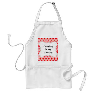 Aztec Andes Tribal Mountains Triangles Chevron Red Adult Apron