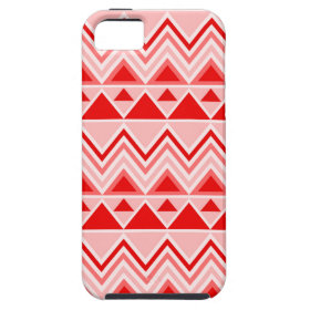 Aztec Andes Tribal Mountains Triangles Chevron Red iPhone 5 Cover