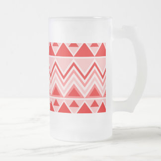 Aztec Andes Tribal Mountains Triangles Chevron Red Coffee Mugs