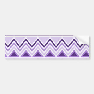 Aztec Andes Tribal Mountains Triangles Chevrons Bumper Sticker