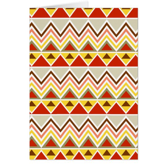 Aztec Andes Tribal Mountains Triangles Chevrons Card