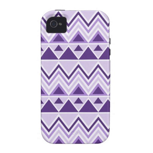 Aztec Andes Tribal Mountains Triangles Chevrons iPhone 4 Case