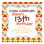 Aztec Andes Tribal Mountains Triangles Chevrons Custom Invites