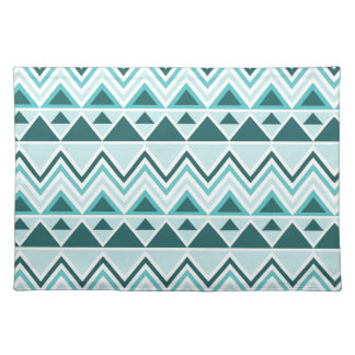 Aztec Andes Tribal Mountains Triangles Chevrons Place Mats