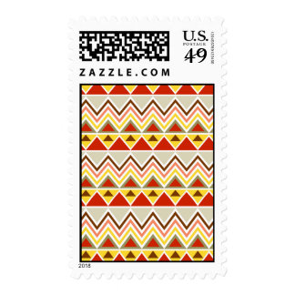 Aztec Andes Tribal Mountains Triangles Chevrons Postage Stamps