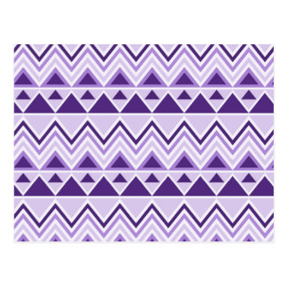 Aztec Andes Tribal Mountains Triangles Chevrons Postcard
