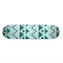Aztec Andes Tribal Mountains Triangles Chevrons Skateboard Deck