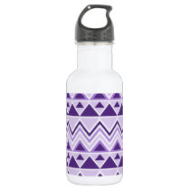 Aztec Andes Tribal Mountains Triangles Chevrons Water Bottle