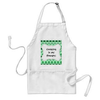 Aztec Andes Tribal Mountains Triangles Green Adult Apron