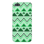 Aztec Andes Tribal Mountains Triangles Green iPhone 5 Covers