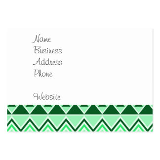 Aztec Andes Tribal Mountains Triangles Green Large Business Cards (Pack Of 100)