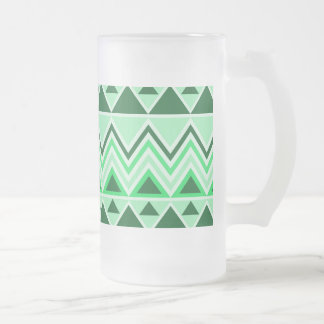 Aztec Andes Tribal Mountains Triangles Green Mug