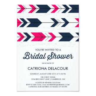"Aztec Arrows Pattern | Bridal Shower Invitation 5"" X 7"" Invitation Card"