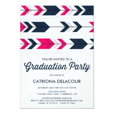 Aztec Themed Aztec Arrows Pattern | Graduation Invitation