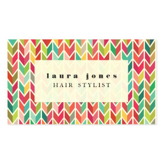 Aztec Arrows Pattern Hair Stylist Template Double-Sided Standard Business Cards (Pack Of 100)