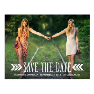 Aztec Arrows | Save the Date Postcard