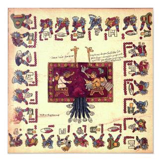 Aztec Art Card 13 Cm X 13 Cm Square Invitation Card