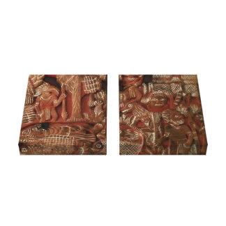Aztec Art Relief Canvas Print