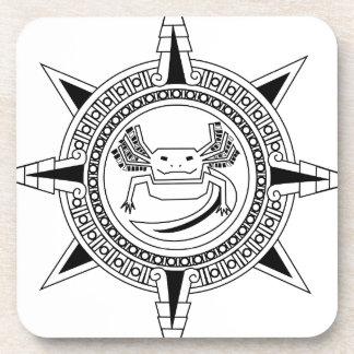 Aztec Axolotl Drink Coasters