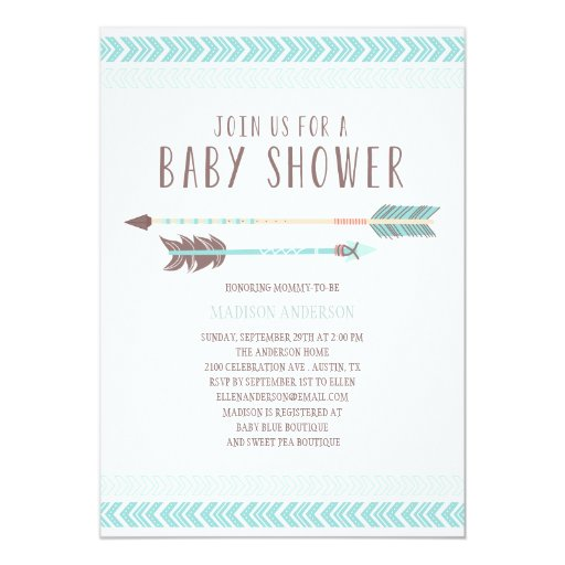 Aztec | Baby Shower Invitation