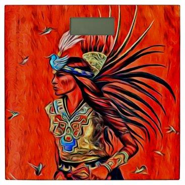 Aztec Themed Aztec Bird Dancer Native American Bathroom Scale