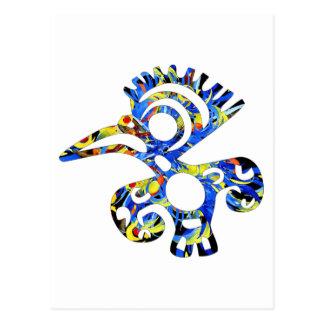 Aztec bird postcard