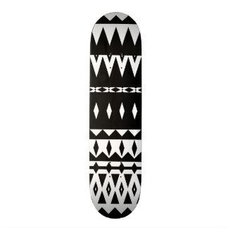 Aztec - Black And White Skateboard