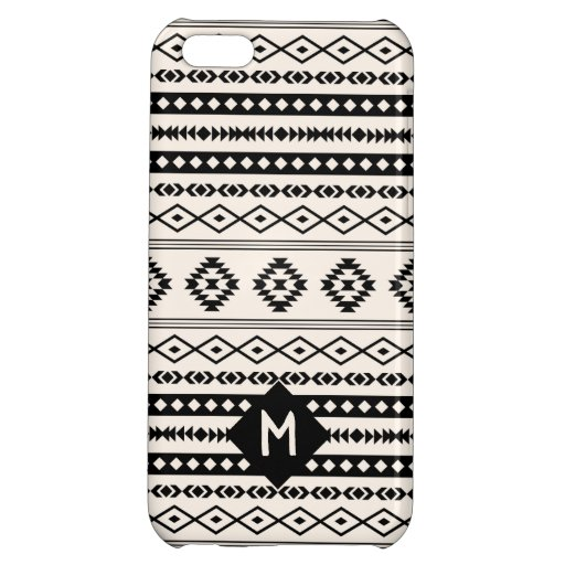 Aztec Blk on Crm Mixed Motif Pattern (Customized) Case For iPhone 5C