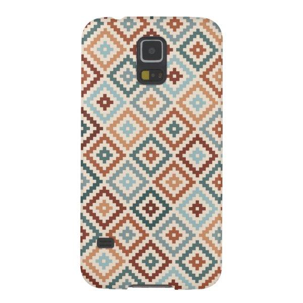 Aztec Block Symbol Rpt Ptn Teals Crm Terracottas Case For Galaxy S5