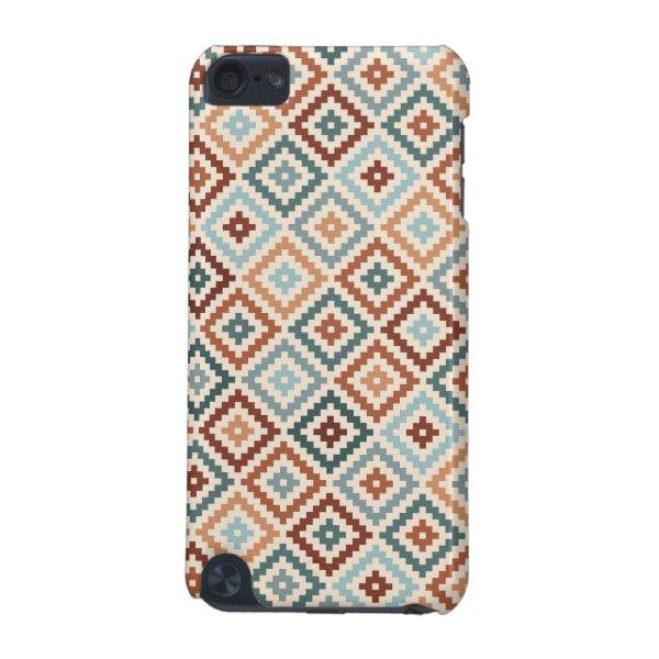 Aztec Block Symbol Rpt Ptn Teals Crm Terracottas iPod Touch 5G Cover
