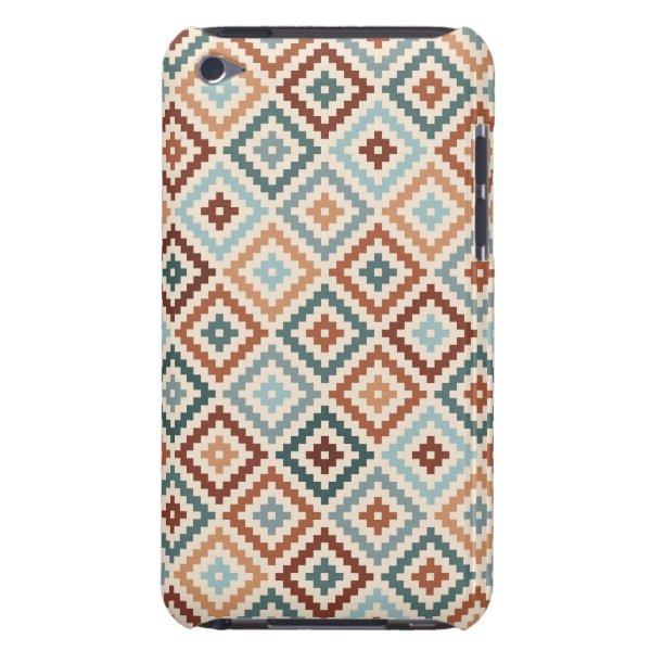 Aztec Block Symbol Rpt Ptn Teals Crm Terracottas iPod Touch Cover