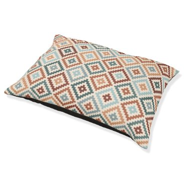 Aztec Themed Aztec Block Symbol Rpt Ptn Teals Crm Terracottas Pet Bed