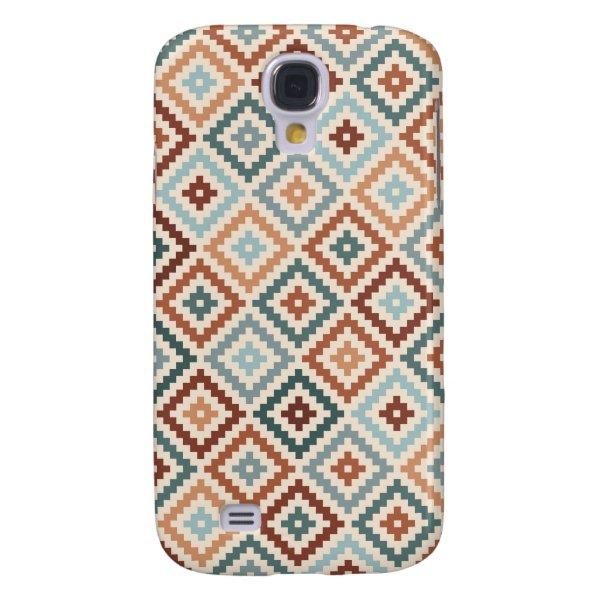 Aztec Block Symbol Rpt Ptn Teals Crm Terracottas Samsung Galaxy S4 Cover
