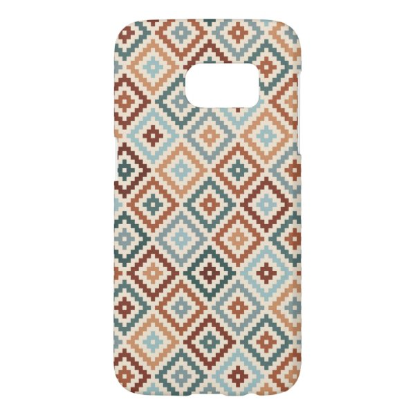 Aztec Block Symbol Rpt Ptn Teals Crm Terracottas Samsung Galaxy S7 Case