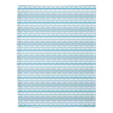 Aztec Themed Aztec Blue and White Quilt Cover