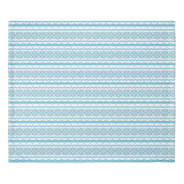 Aztec Themed Aztec Blue and White Quilt Cover - King Size
