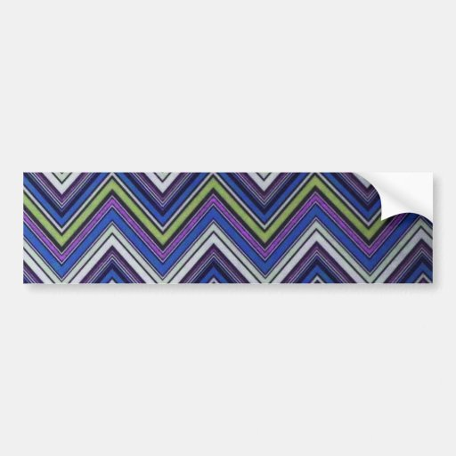 Aztec Blue Green Purple  Chevron Girly Pattern Bumper Sticker