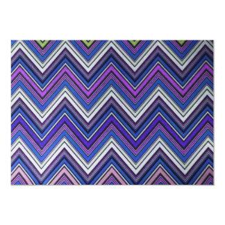 Aztec Blue Green Purple  Chevron Girly Pattern Card