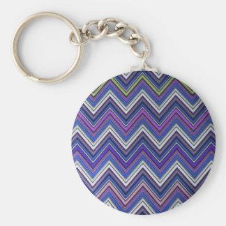 Aztec Blue Green Purple  Chevron Girly Pattern Keychain