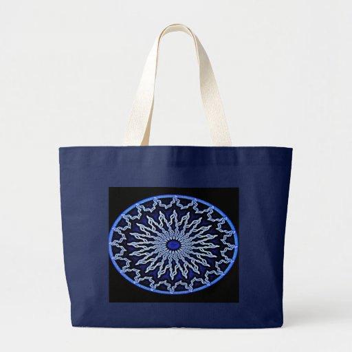 Aztec Blue Mandala Bag
