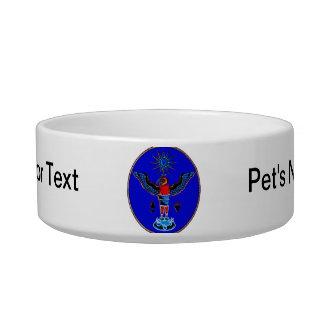 aztec blue style eagle sun symbols pagan design.pn bowl
